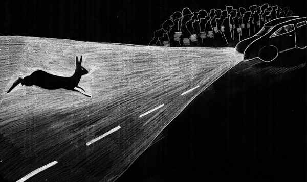 Sagenstark | Der Hase am Kreisel